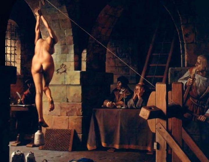Hanging woman torture