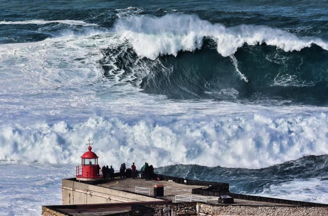 Huge waves at Nazare beach - Portugal