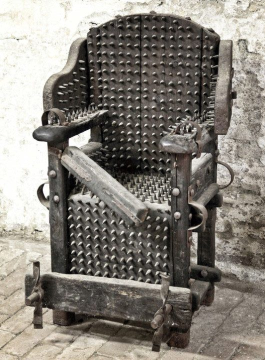 Iron chair of torture